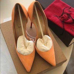 Christian Louboutin Iriza 100mm Sunset Suede 39